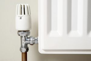 Close up image of radiator valve